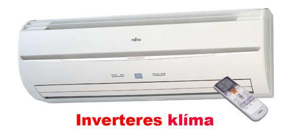 Fujitsu inverteres klíma távirányítással